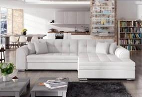 Expedo Rohová rozkladacia sedačka PALERMO, 294x80x196 cm, soft 017/white, pravá