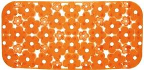Margherita 973572P4 podložka do vane 34,5 x72cm s protišmykovou úpravou, PVC, oranžová