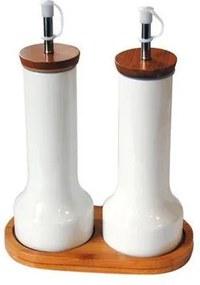 TORO Súprava na olej a ocot, keramika-bambus