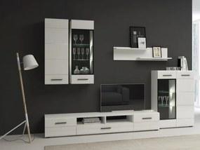 RENAR Bianco obývacia stena biela / biely lesk
