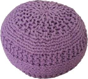 KUDOS Textiles Pvt. Ltd. MEGA AKCE: Sedací vak TEA POUF 4 fialový - 40x40x35 cm