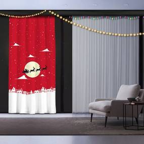 Vianočný záves Christmas Time, 140 x 260 cm