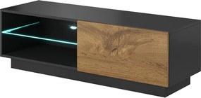 HALMAR Livo 120S tv stolík antracit / dub wotan