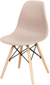 Stolička, teplá sivá/buk, CINKLA 2 NEW