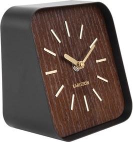 KARLSSON Stolné hodiny Squared tmavé drevo