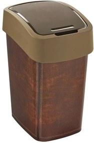 CURVER FLIPBIN LEATHER 25l odpadkový kôš 47 x 34 x 26 cm hnedý 02171-L13