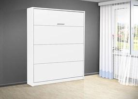 Nabytekmorava Sklápacia posteľ VS 3054 P - 200x140 cm nosnost postele: štandardná nosnosť, farba lamina: biela 113