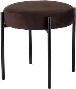 TORO Stolička TORO 36cm hnedý zamat
