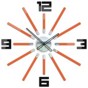 Mazur 3D nalepovacie hodiny Briliant oranžové