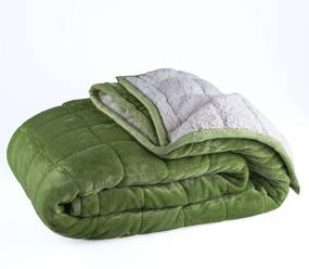 Prešívaná deka OVEČKA zelená 150 x 200 cm