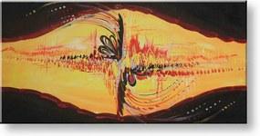Ručne maľovaný obraz DeLUXE - ABSTRAKT 1 dielny 021D1