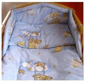 NEW BABY New Baby Veselí Medvedíci 2-dielne posteľné obliečky New Baby 90/120 cm modré s medvedíkom Modrá |