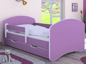 MAXMAX Detská posteľ so zásuvkou 160x80 cm - FIALOVÁ