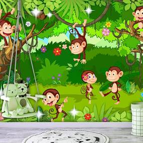 Fototapeta triky opičiek - Monkey Tricks