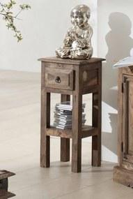 Bighome - CASTLE Príručný stolík 65x30 cm, palisander
