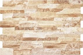 Obklad Geotiles Brick terra 34x50 cm reliéfní BRICKTE