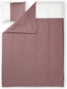 Obliečky Astrid 150x210 50x60, biobavlna, červeno-biele