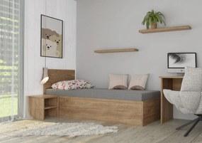 Wood Service Jednolôžko Soňa s úložným priestorom a roštom 100 x 200