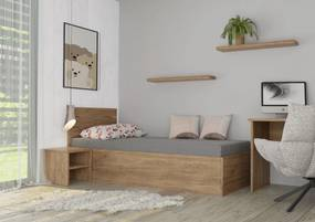 Wood Service Jednolôžko Soňa s úložným priestorom a roštom 80 x 200