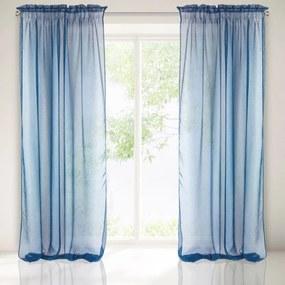 Hotová záclona na páske 140x300cm Modrá