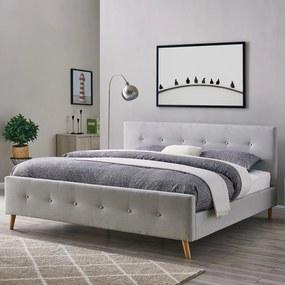 Čalúnená posteľ Catini FINSTA - šedo-béžová
