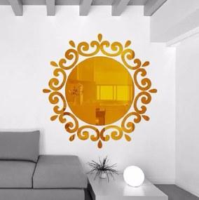 Veselá Stena Samolepiace zrkadlo guľaté - 2 farby Barva: Zlatá