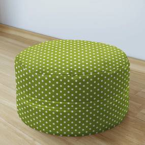 Goldea bavlnený sedacie bobek 50x20cm - vzor biele bodky na zelenom 50 x 20 cm