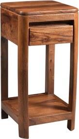 Bighome - MONTREAL Príručný stolík 30x30x60 cm, hnedá, palisander