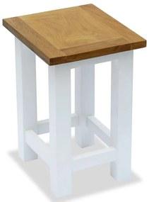 vidaXL Odkladací stolík 27x24x37 cm, dubový masív