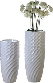 Podlahový kvetináč Lines, 100 cm - biela