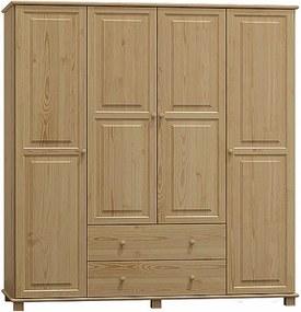 AMI nábytok skříň 4Dč2 šířka 180 borovice
