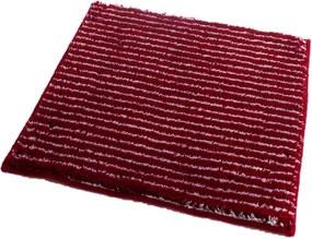 ROUTNER Kúpeľňová predložka PESCINA Červená 10609 - Červená / 50 x 50 cm 10609