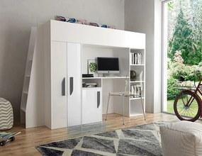 SB Multifunkčná poschodová posteľ Party 15 - viac farieb Farba: Biela