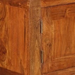 vidaXL Komoda z masívneho dreva so zakončením zo sheeshamového dreva, 120x30x75 cm
