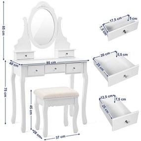 Toaletný stolík Elizabeth Charlotte