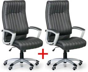B2B Partner Kancelárske kreslo LUGANO 1+1 ZADARMO - čierne