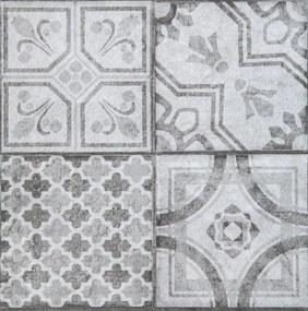 Vinylové samolepiace podlahové štvorce Classic 274-5043, rozmer 30,5 cm x 30,5 cm, Maroccan sivý, D-C-HOME