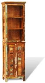 Skrinka na knihy z recyklovaného pevného dreva, štýl vintáž