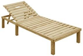 vidaXL Záhradné ležadlo impregnované borovicové drevo