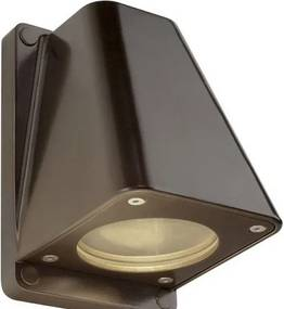 Vonkajšie nástenné svietidlo SLV WALLYX bronz 230V GU10 227198