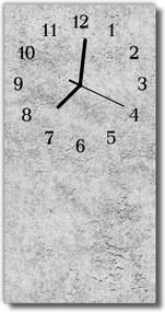 Nástenné hodiny vertikálne  šedá stena