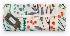 Piknik deka Surdic Manta Picnic Flores Vintage s motívom kvetov, 140 x 170 cm
