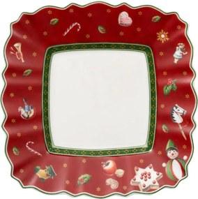 Červený hranatý tanier na maslo/chlieb 17 cm TD