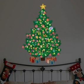 Walplus Svietiaca samolepka na stenu - vianočný stromček s písmenkami