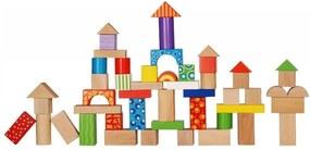 Bestent Detská drevená stavebnica 50 kusová Ecotoys