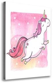 Foto obraz na plátne Ružový jednorožec pl-oc-70x100-f-125196230