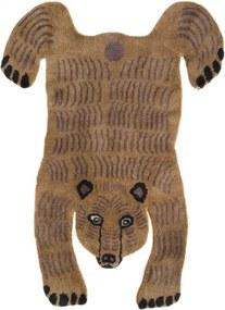 Koberec Bear, hnedý / luxusná vlna, Rozmery  200x300 cm Mum's