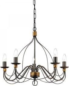 Ideal Lux 057187 luster Corte Ruggine 5x40W | E14