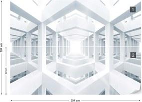 Fototapeta GLIX - 3D White + lepidlo ZADARMO Vliesová tapeta  - 254x184 cm