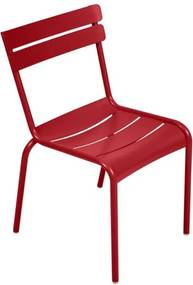 Červená záhradná stolička Fermob Lu×embourg